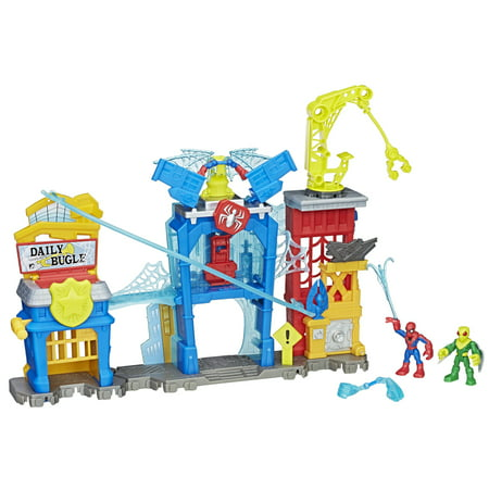 Playskool Heroes Marvel Super Hero Adventures Spider-Man Web-Quarters (Elektra Superhero)