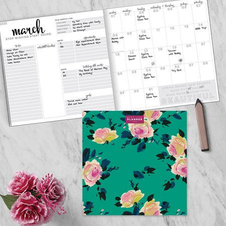 2020 Pink Blossom Best Life Large Monthly Planner