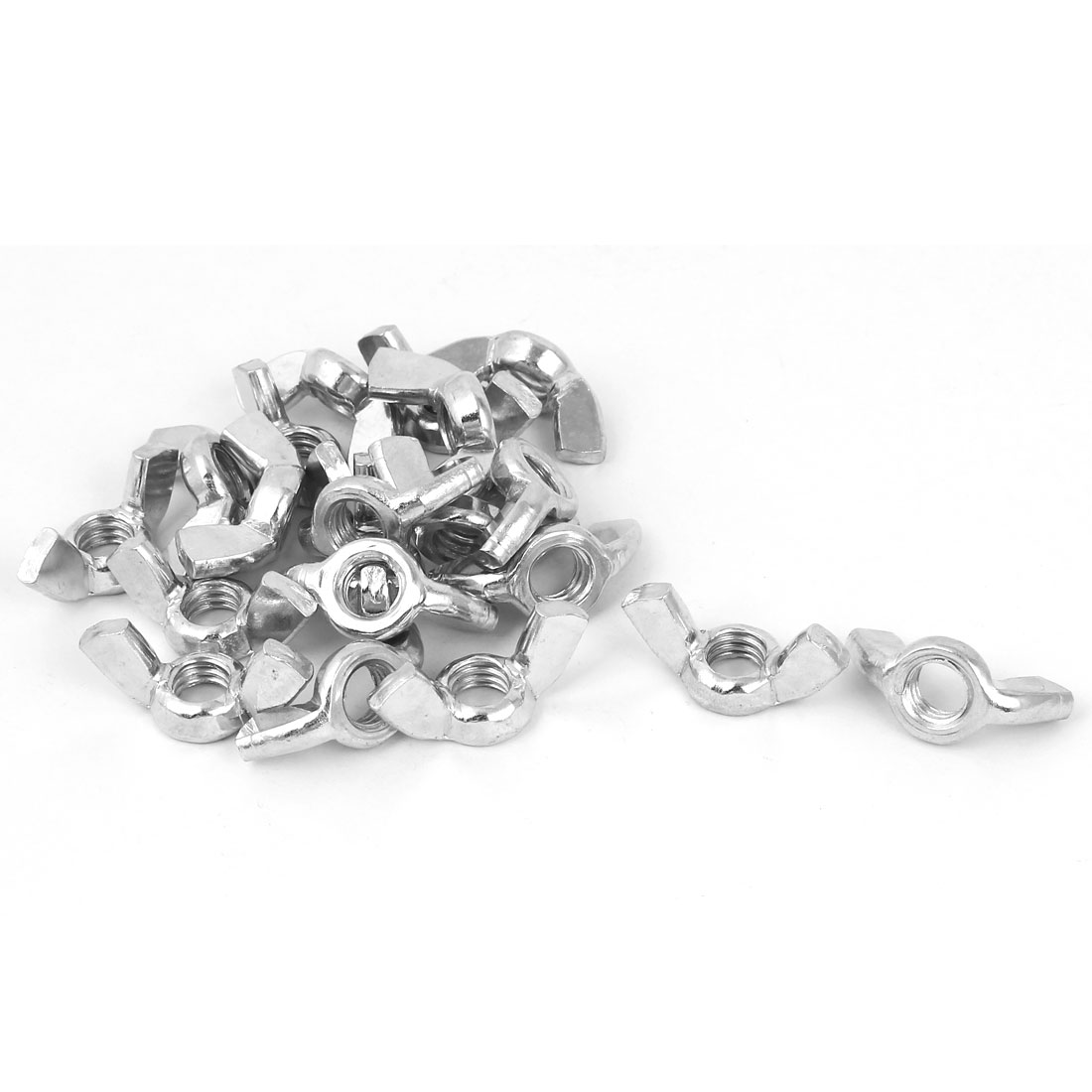"""5/16""""-18 Thread Zinc Plated Wingnut Butterfly Wing Nuts 20pcs - image 1 of 1"""