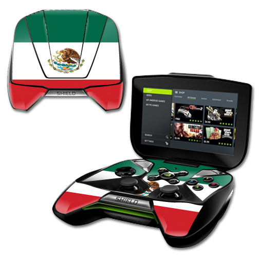 MightySkins Protective Vinyl Skin Decal for NVIDIA Shield Portable cover wrap skins sticker Mexican Flag