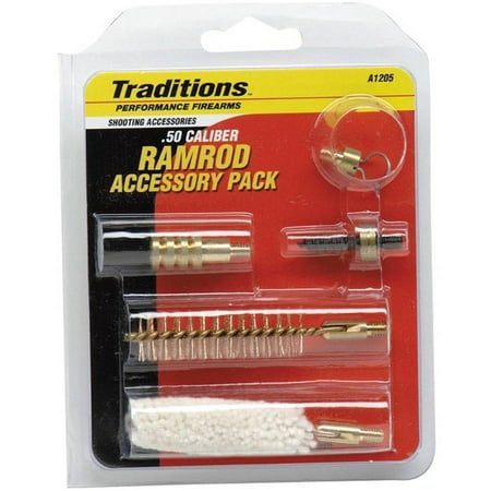 Hunter Muzzleloader (Traditions Muzzleloader Ramrod Accessories Pack, .50 Cal, 10/32 Threads, 5 Popular Tips )