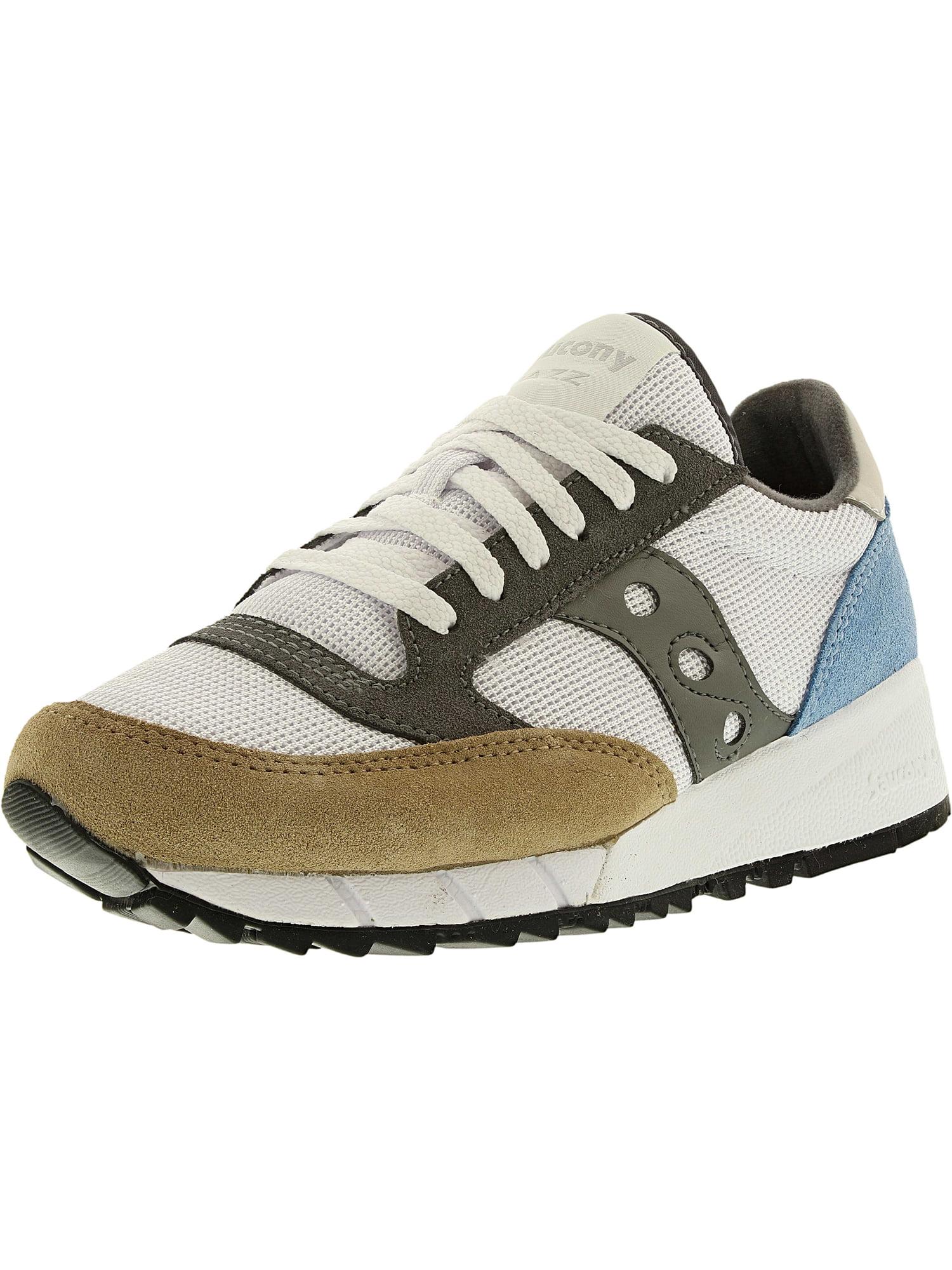 Saucony Men's Jazz 91 White/Tan/Blue Ankle-High Nylon Running Shoe - 5M