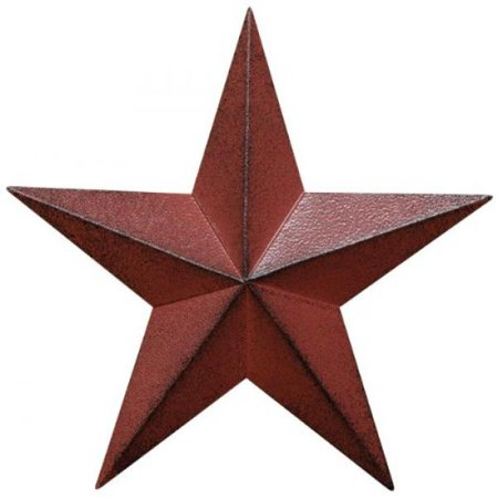 Cwi gifts barn star wall decor 12 inch burgundy for Barn star decorations home