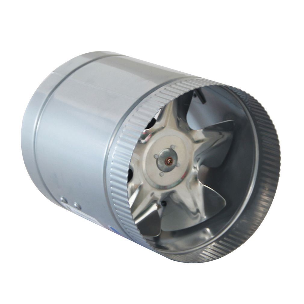 8 Inch High Speed Stainless Steel Inline Blower Fan Exhaust Ducting Cool Vent