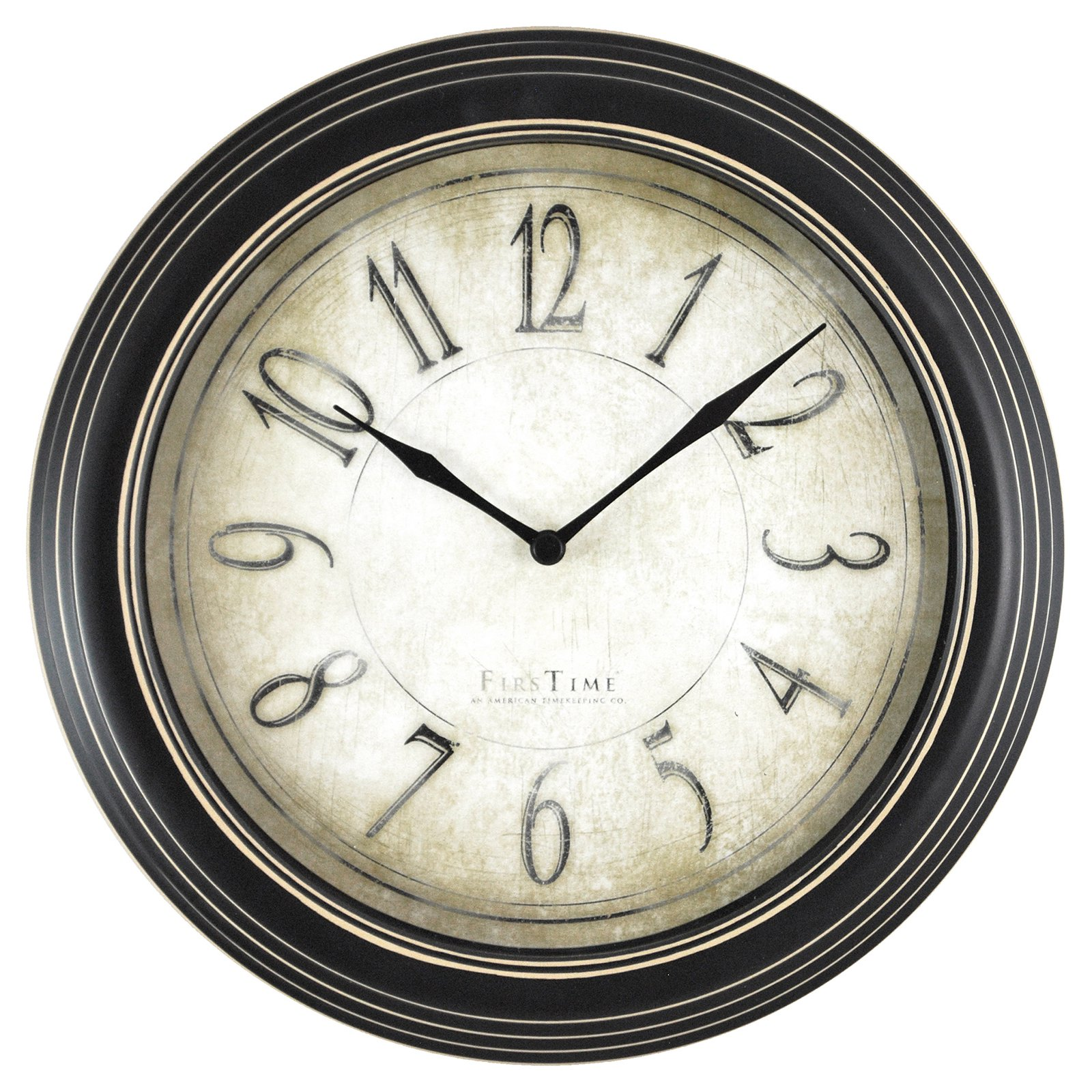 FirsTime Distressed Plastic Wall Clock