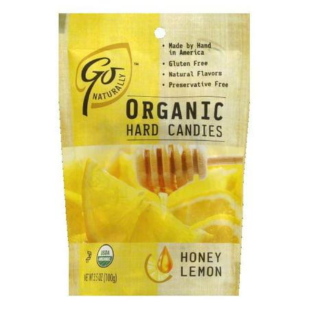 Go Naturally Organic Honey Lemon Hard Candy, 3.5 OZ (Pack of (Vermints Organic Candy)