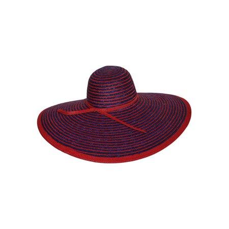 c624ac76 Large Straw Stripe Floppy Sun Hat - image 1 of 2 ...