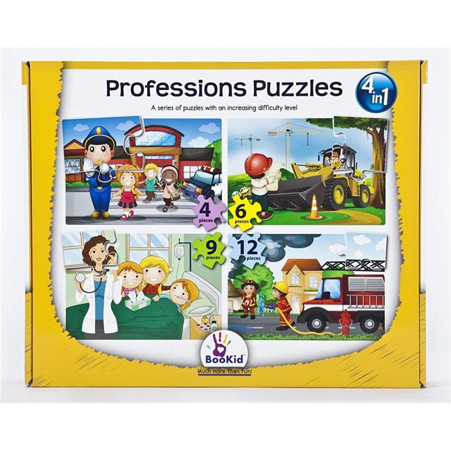 Dexter Educational Toys DEX1918 4 in 1 Baby Puzzle Games - Professions