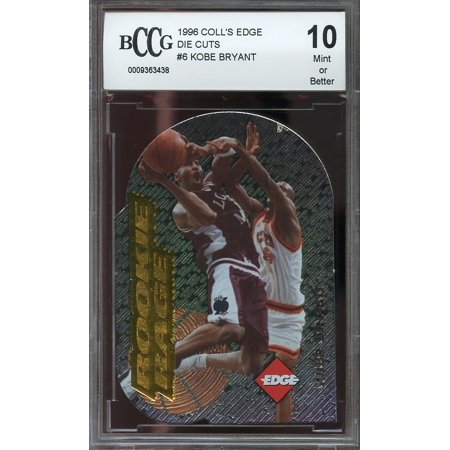 1996 Colls Edge Die Cuts  6 Kobe Bryant Los Angeles Lakers Rookie Bgs Bccg 10