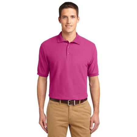 Port Authority® Tall Silk Touch™ Polo.  Tlk500 Tropical Pink 2Xlt - image 1 of 1