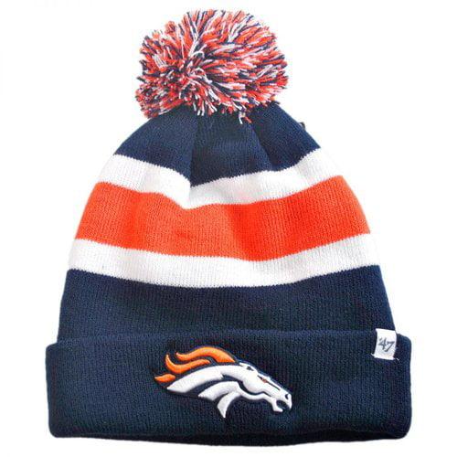 Denver Broncos Blue Breakaway Cuffed Knit Hat with Pom by '47 Brand