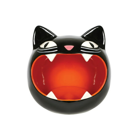 What On Earth Black Cat Candy Bowl - Black Kitty Dish - Perfect for Halloween Party Decoration - Halloween Candy Food Stamps