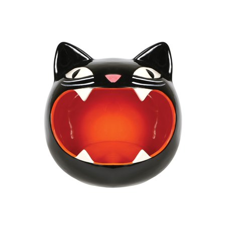 What On Earth Black Cat Candy Bowl - Black Kitty Dish - Perfect for Halloween Party Decoration