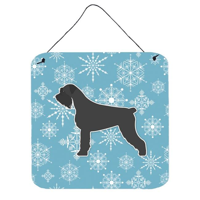 Carolines Treasures BB3573DS66 Winter Snowflake Giant Schnauzer Wall or Door Hanging Prints - image 1 de 1