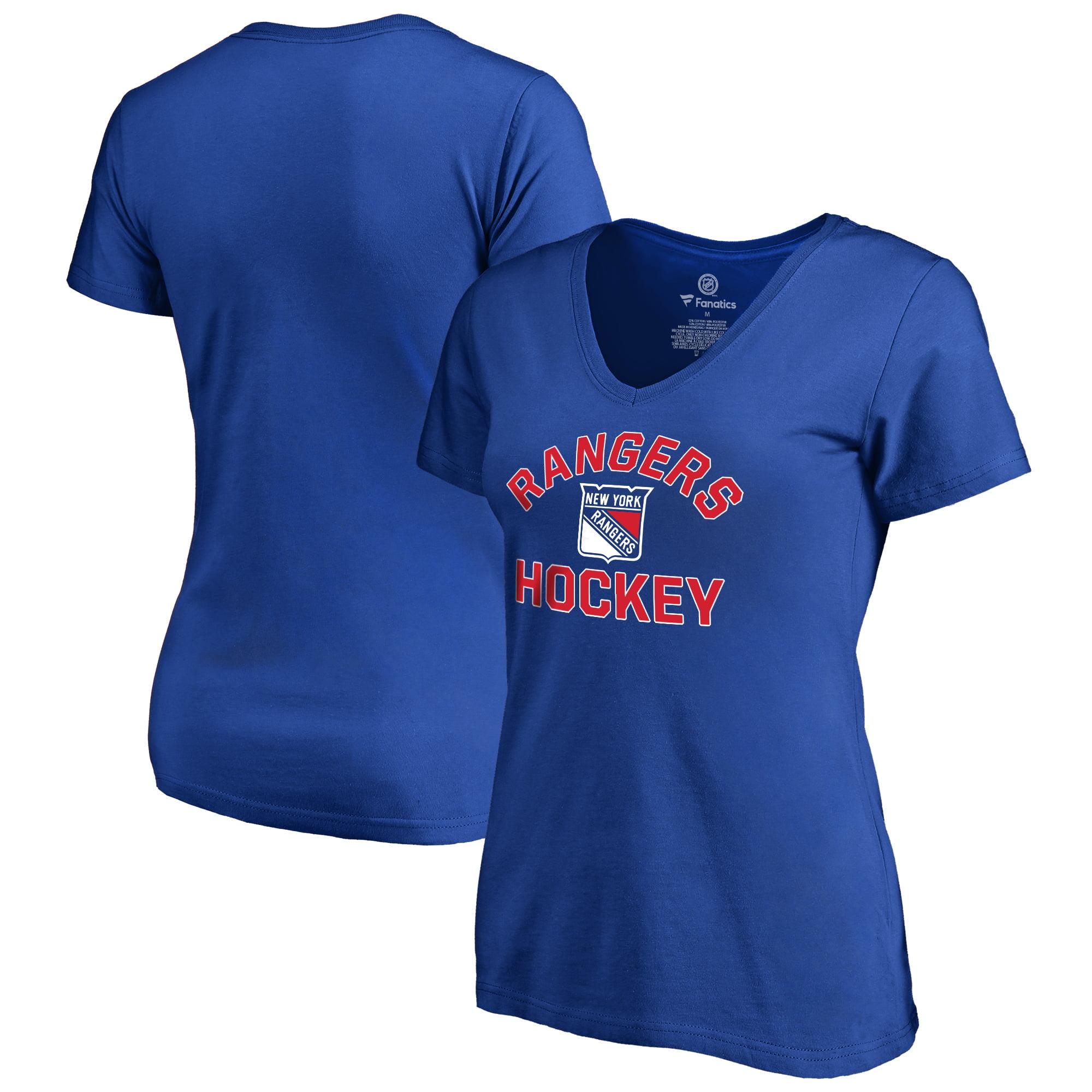 New York Rangers Fanatics Branded Women s Overtime Plus Size V-Neck ... a48f3211d32