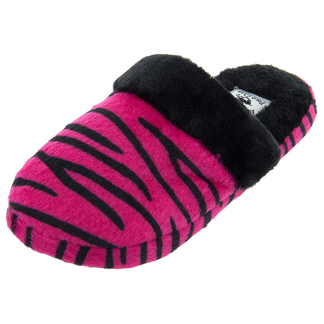 Beverly Hills Polo Pink Tiger Women's Slippers