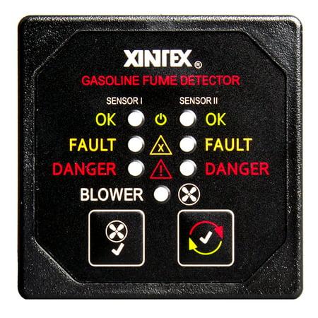 XINTEX G-2BB-R GASOLINE FUME DETECTOR, 2-CHANNEL, W/ BLOWER