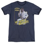 Saturday Night Live Astronaut Jones Mens Adult Heather Ringer Shirt