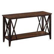Magnussen Fleming Wood and Metal Sofa Table - Rustic Pine Finish