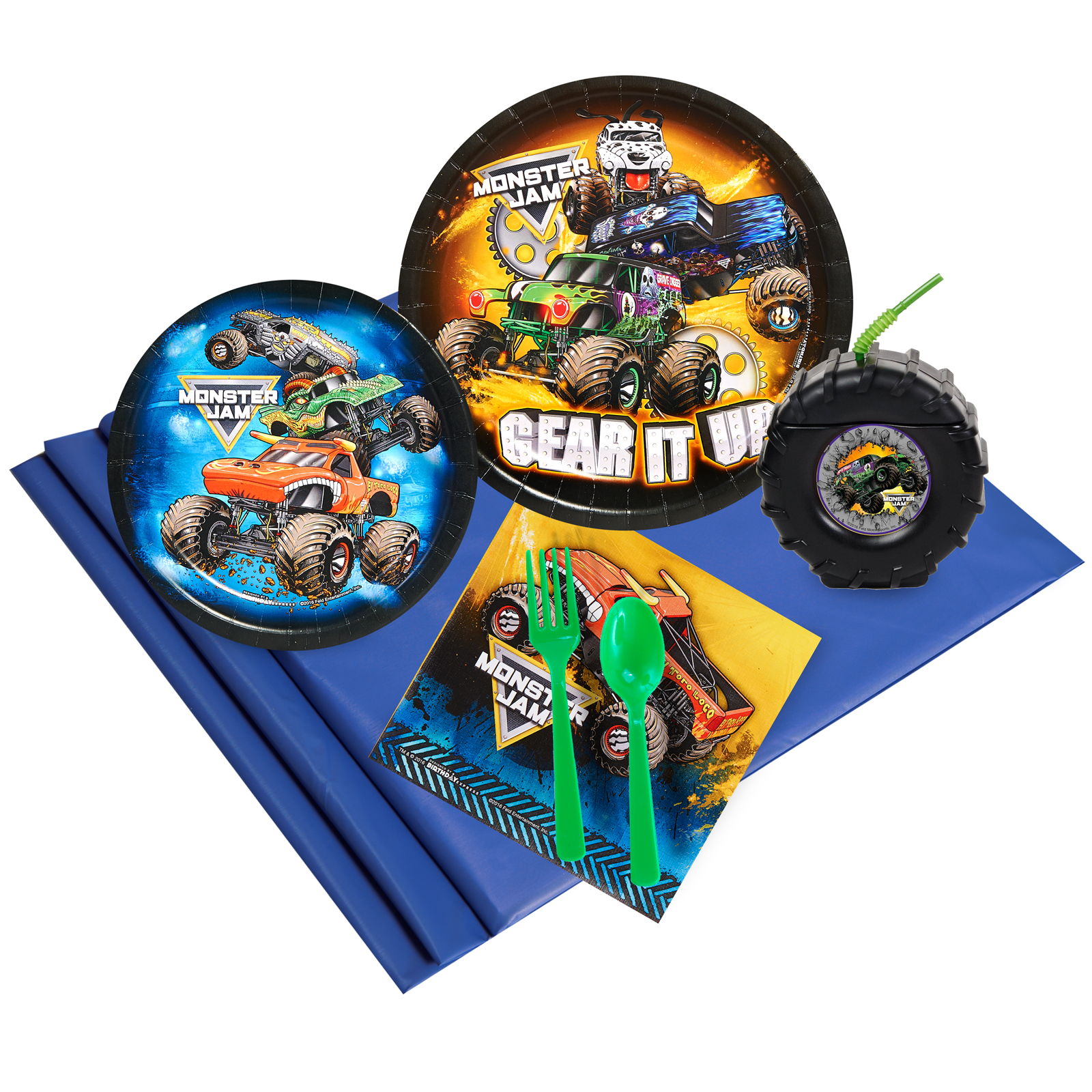 Monster Jam 16-Guest Party Pack with Molded Cups