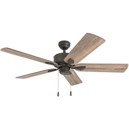 Prominence Home 50565-35 Glencrest Farmhouse 52-Inch Aged Bronze Indoor Ceiling Fan, Barnwood/Tumbleweed Blades