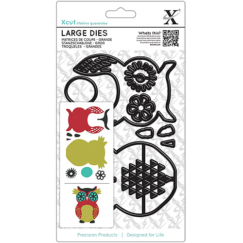docrafts Xcut Decorative Dies-Owl, Large Multi-Colored