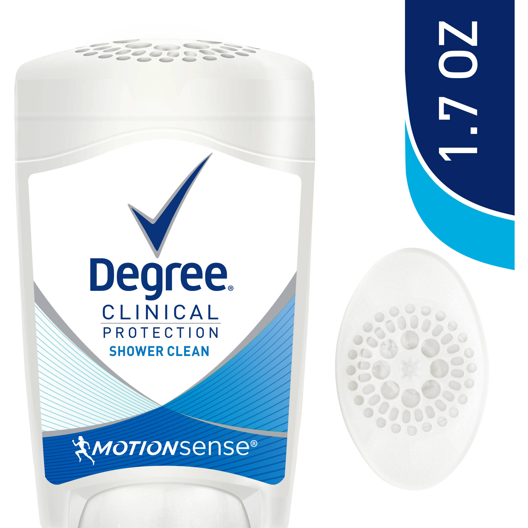 Degree Clinical Protection Shower Clean Antiperspirant Deodorant, 1.7 oz