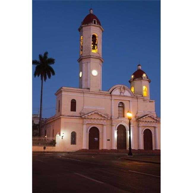 Posterazzi PDDCA11WBI0494 Cuba Catedral De Purisima Concepcion Cathedral at Dusk Poster Print by Walter Bibikow - 19 x 28 in. - image 1 de 1