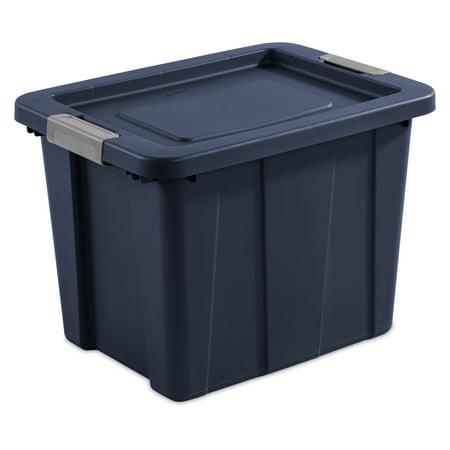 Sterilite 18 Gallon Dark Indigo Latching Tuff1 Tote, 2 Piece