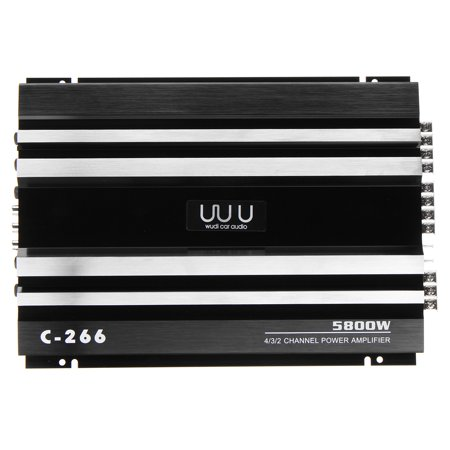 Powerful 5800 Watt 4 Channel 12V Car High Power Stereo Audio Amplifier Amp Speaker Subwoofer Stereo Amp For Car Auto Vehicle Support 4 Speakers 2/4 Ohm - image 8 of 13