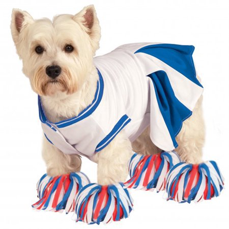 Best Halloween Costumes For Large Dogs (Rubie's Cheerleader Halloween Dog Costume - Blue -)