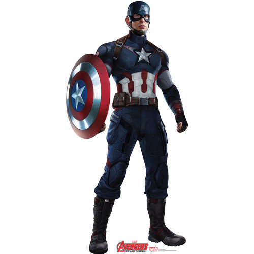 Avengers Age of Ultron Captain America Standup, 6' Tall