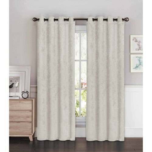 Faux Suede Room Darkening Extra Wide 108 x 84 in. Grommet Curtain Panel Pair by YMF Carpets Inc.