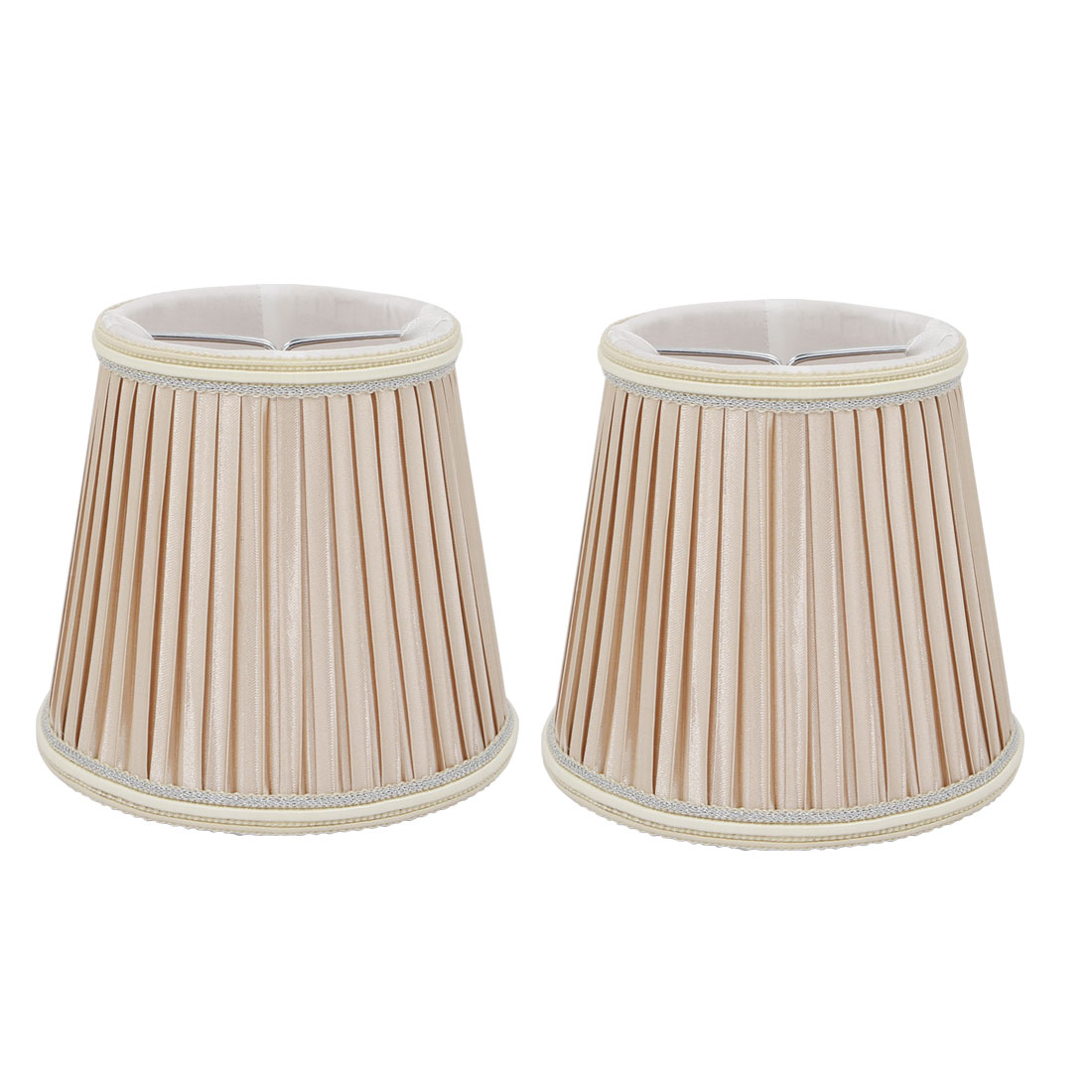2pcs Wall Shade Lampshade Chandelier Clip-On LampShade Beige Fabric-Covered by