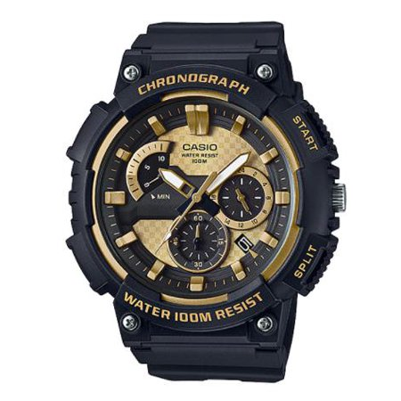 Men's 3D Dial Chronograph Watch, Black/Gold - MCW200H-9AV