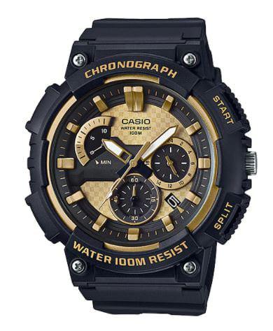 Men's 3D Dial Chronograph Watch, Black/Gold - MCW200H-9AV
