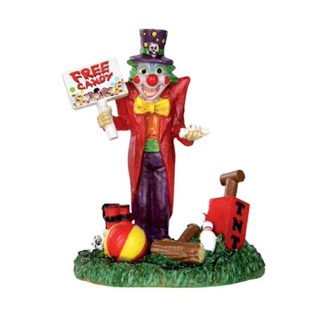 Lemax 32102 FREE CANDY CLOWN Spooky Town Figure Halloween Decor Figurine - Lemax Halloween Train