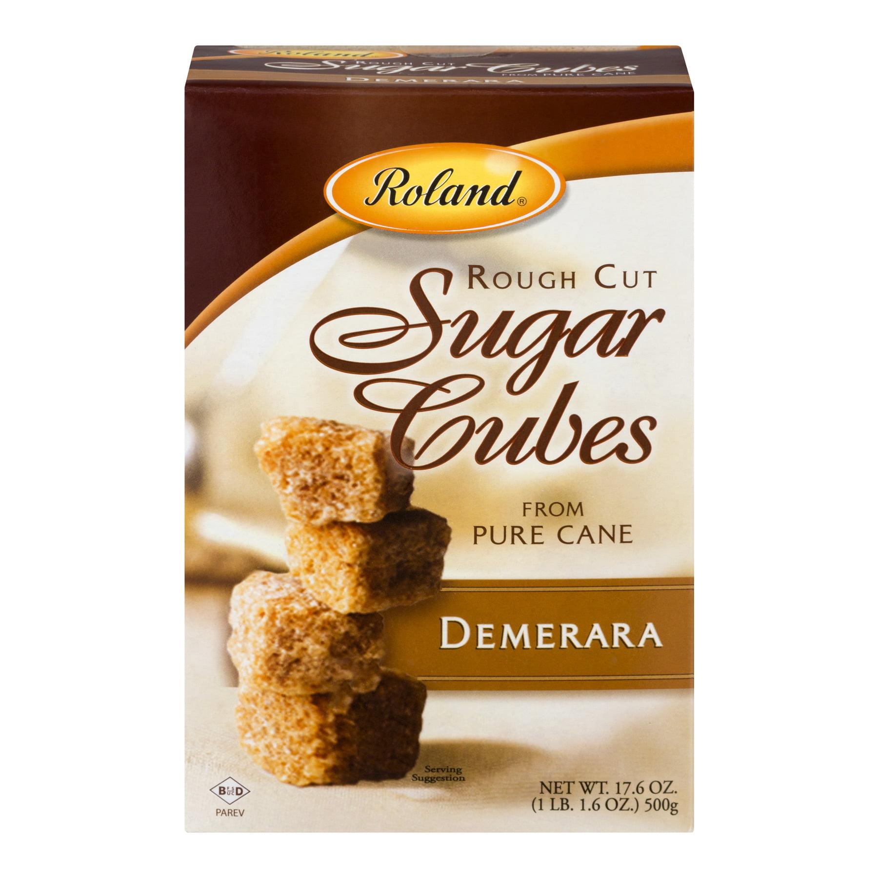 Roland Rough Cut Sugar Cubes Demerara, 17.6 OZ