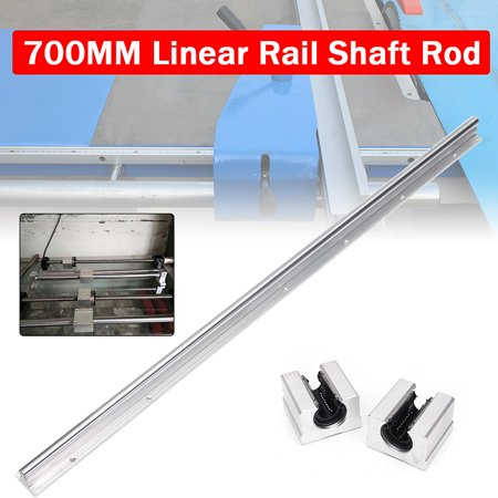 SBR12-700MM Bearing Linear Rail Slide Guide Shaft w/ 2pcs SBR12UU Slider Bracket Aluminum Blocks