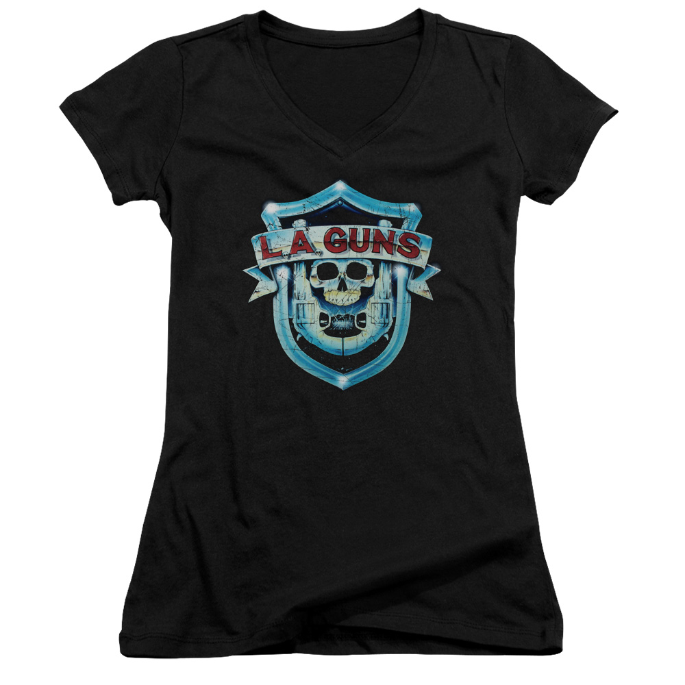 La Guns La Guns Shield Juniors V-Neck Shirt