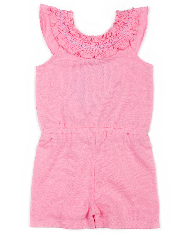9c99e7291eaa Little Lass - Toddler Girls  Sequin Knit Romper - Walmart.com
