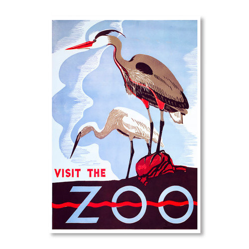 Americanflat Visit The Zoo Vintage Advertisement