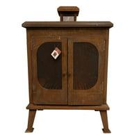 "45"" Brown Rustic Finish Rectangular Outdoor Terrace Fireplace"