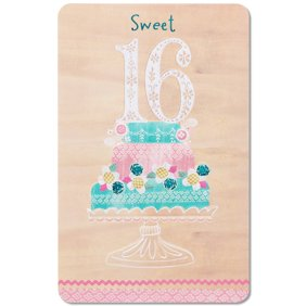 M3086 radio days 10 assorted all occasions greeting cards american greetings sweet 16 birthday card with glitter m4hsunfo
