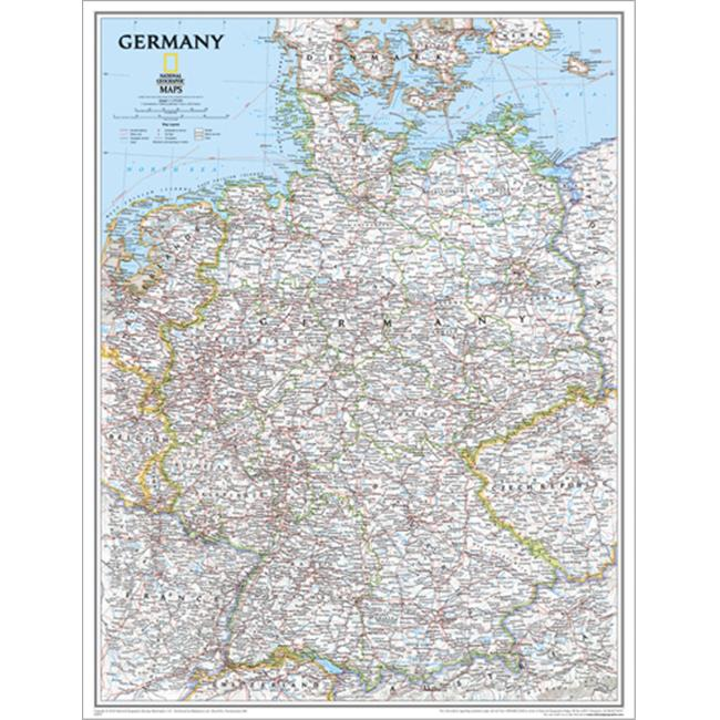 National Geographic RE0602814T Map Of Germany - Tubed