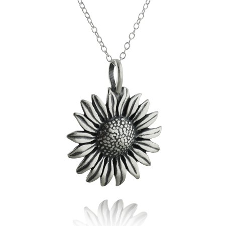 Sterling silver sunflower pendant necklace 18 chain walmart sterling silver sunflower pendant necklace 18 chain aloadofball Gallery