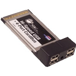 """""""SIIG JU-PCM422-S2 SIIG Hi-Speed USB 4-Port CardBus - Plug-in Card"""""""