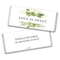 25ct Botanical Wedding Favors for Guests Chocolate Bar Wrappers (25 Count) Bridal Shower Favors for Guests Wrappers for Wedding Candy Bars