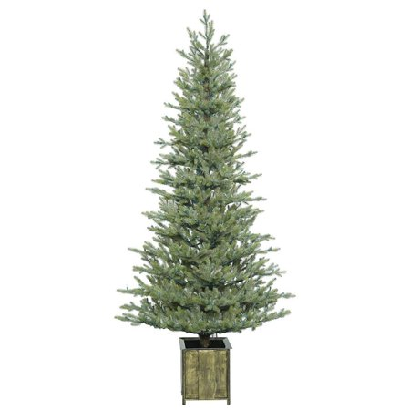 Vickerman 409688   4 X 26  Potted Newfield Fir Tree In Metal Container Christmas Tree  S165840