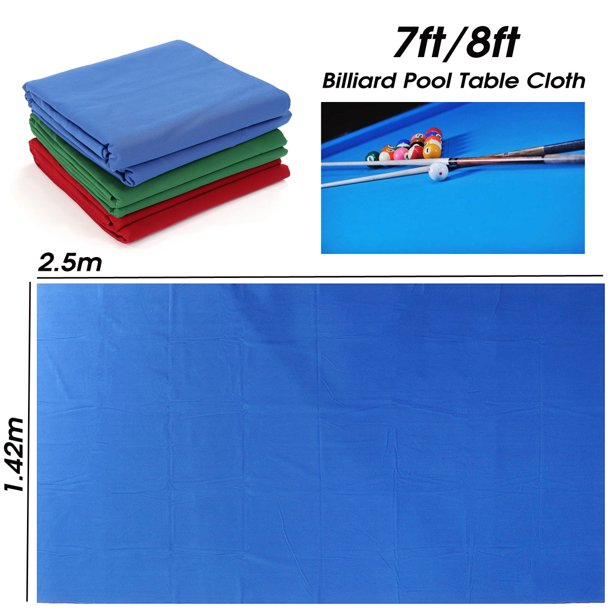 Professional Worsted Billiard Pool Table Cloth Billiard Felt Universal Table Cloth for Indoor Games Table fits for 7ft/8ft Table